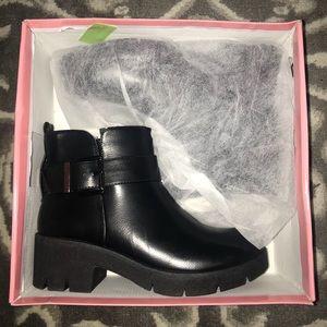 *New* in Box Black Block Heel Booties!